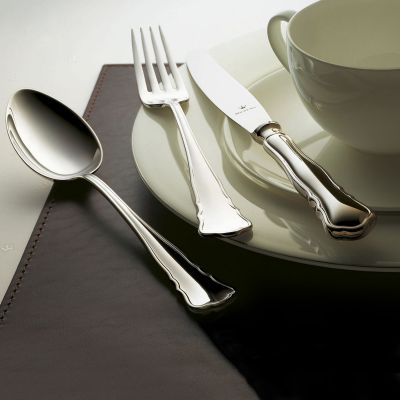 Silberbesteck Set 62-teilig Chippendale in 925 Sterlingsilber