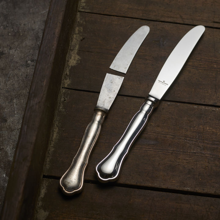 We take the greatest care and attention to detail: Restoration and Repair of your old silver cutlery