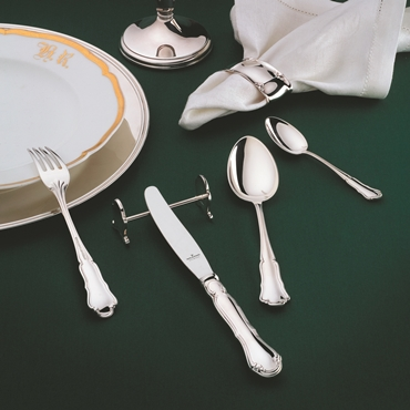 Cutlery Set Dresdner Barock - 30 Pieces - for 6 persons in 180g Silver Plated or 925 Sterling silver