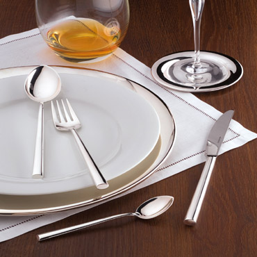 Cutlery Set for 6 persons in 18/10 stainless steel - 62 pieces incl. serving flatware